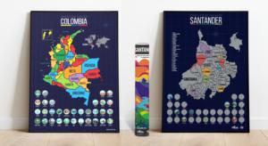mapa de colombia y mapa de santander para raspar