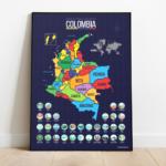 mapa de colombia para raspar